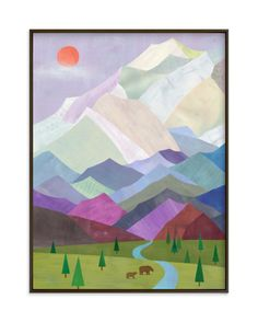 """Denali, Alaska"" - Limited Edition Art Print by melanie mikecz in beautiful frame options and a variety of sizes. Summer Sky, Late Summer, Denali Alaska, School Murals, Custom Art, Plexus Products, Wall Art Prints, Art Drawings, Graffiti"