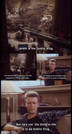 David Bowie Interview about Jareth in the movie Labyrinth.