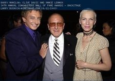 Barr Manilow, Clive Davis and Annie Lennox