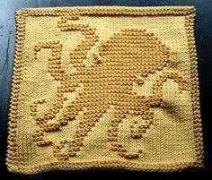 Octopus dishcloth
