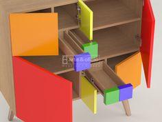 Arte & Oficio, Sutileza en el diseño y los detalles..!!! Mueble Aparador Fibonacci Colores..!!, Detalle Interior 1, (Las matemáticas como punto de partida del Diseño): Φ = (1+√5) /2 Showroom Arte & Oficio: Olazabal 4710 | Villa Urquiza | CABA.- Coordinar Cita Previa llamando al 15-4097-6325 http://arteyoficio.com.ar/aparador_fibonacci.htm
