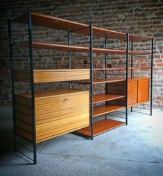 Attractive This Triple Ladderax Style Black Metal And Hardwood Shelving Unit Was  Designed In The 1970s