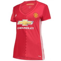 Manchester United Women's Home Shirt 2016 2017 - Discount Football Shirts, Cheap Soccer Jerseys Premier League, Manchester United Shirt, Sport Online, Football Kits, Adidas, Shirt Shop, Sports Women, Lady, Shirts