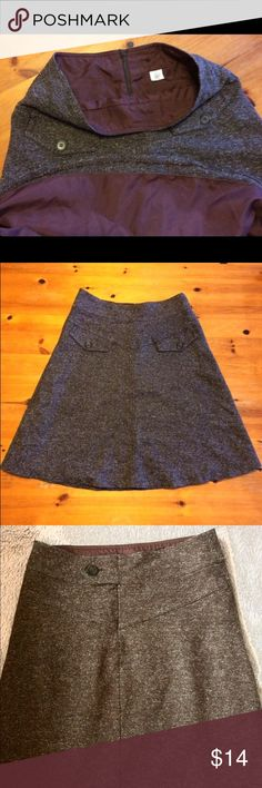 Urban outfitters Double Layer Brown Skirt Adorable lined brown skirt with a zip and button closure and faux double pockets on back. Bought at UO and worn once. Perfect condition! Urban Outfitters Skirts