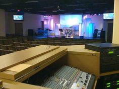 church media and sound booth design plans - Google Search