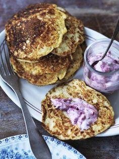 Proteinrige brunchpandekager uden mel (kesoplätter)