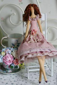 Куклы Тильды ручной работы. Ярмарка Мастеров - ручная работа. Купить Текстильная кукла Бьянка. Handmade. Брусничный, кукла текстильная