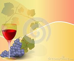 Abstract Background with glass of Wine and grape