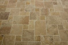 Travertine Tile - Antique Pattern Sets - Volcano Standard / Antique Pattern / Brushed, Chiseled, and Partially Filled