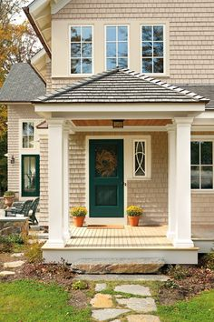 white trim and a door that pops   Marvin Windows and Doors Photo Gallery -
