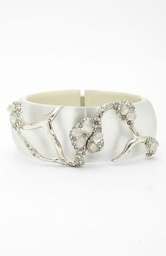 'Modernist Embraced' Hinged Bracelet by Alexis Bittar