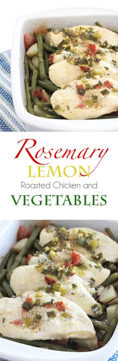 Rosemary Lemon Roasted Chicken and Vegetables
