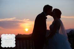 A sunset kiss at the Hawkesnest Pavilion after the wedding on Hawkesdene's grounds.