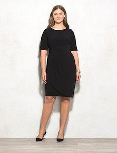 db Signature Plus Size Solid Sadie Dress | dressbarn