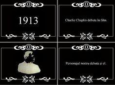 """1913. Charlie Chaplin debutează în film.  1913. Janovics Jenő realizează primul film în Cluj, în 1913, """"Sárga Csiko"""", și dă startul la Cluj unei adevărate industriă de film. Charlie Chaplin"""