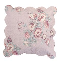 Pretty floral and scallop edge cushion great for a Spring look. Mauve Antique Floral Quilted Cushion, £12