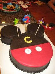 how to make a mickey mouse cake - Google Search