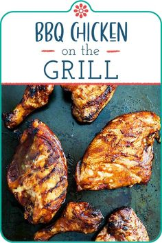 Barbecue Chicken on the Grill! BBQ Chicken cooked slowly on the grill, slathered with your favorite barbecue sauce — does it get any better? This is the best recipe for making perfect BBQ chicken for all your summer gatherings and cook outs. #bbq #barbecue #chicken #summerrecipes #cookout #grillrecipes #grilling Grilled Bbq Chicken, Barbecue Chicken, Barbecue Sauce, Tandoori Chicken, Bbq Sauces, Keto Chicken, Healthy Chicken, Baked Chicken, Easy Delicious Recipes