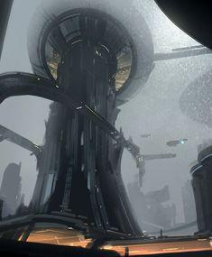 http://futuristicnews.com/category/future-architecture/ Futuristic Architecture, Rainy City by Hideyoshi