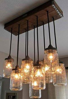 Mason Jar Large Light by Allhandmadewood on Etsy