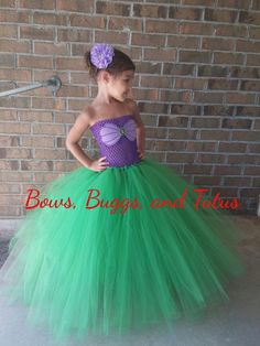 Ariel tutu dress little mermaid dress mermaid by BowsBuggsandTutus