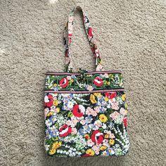 vera bradley 100 handbag in indigo poppy
