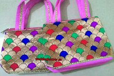 Batwa bags/ladies small handbags.Code: WH P 001.Best for return gifts.MOQ 25 Price 100 Rs each.
