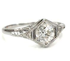 #antique #engagement #rings
