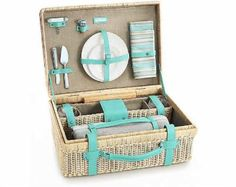 Picnic in style with the Tiffany wine carrier and basket