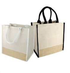 c9ba629da Fancy Jute Blend Tote Bags Burlap Carry-All Totes with Full Gusset - TJ912