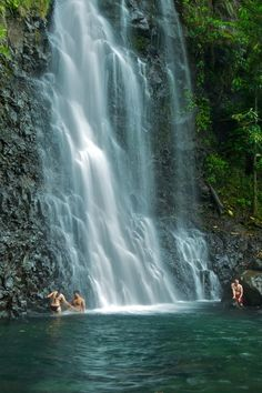 Taveuni Island off of Vanua Levu's east coast, Bouma National Heritage Park Waterfalls