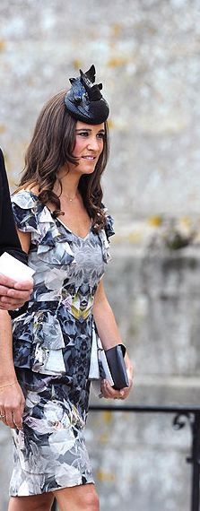 Pippa Middleton wearing a hat by Gina Foster Millinery, Victoria Grove from A/W Kensington collection. #passion4hats