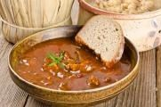 Turkey Stew Recipe: Thanksgiving Leftovers Goulash from 12 Tomatoes Hot Soup Recipes, Great Recipes, Leftovers Recipes, Turkey Recipes, Soup Kitchen, Leftover Turkey, Thanksgiving Recipes, Thanksgiving Leftovers, Main Meals