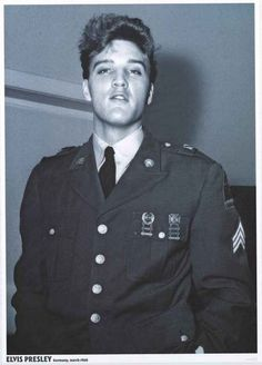 A great poster of Pvt Elvis Presley during his stint with the US Army's 3rd Armored Division in Germany in 1960! Ships fast. 24x33 inches. Check out the rest of our fantastic selection of Elvis Presle