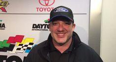 Smoke, thanking Ford, after Kurt Busch's Daytona 500 win