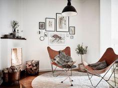 Vlinderstoel leer - THESTYLEBOX