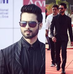 Stunning look iffa Formal Looks, Casual Looks, Blazer Outfits Men, Shahid Kapoor, Actors Images, Groom Style, Bollywood Actors, Hair And Beard Styles, Celebs