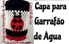 Capa de Garrafão/Galão de Água em crochê Joaninha - Jogo de Cozinha