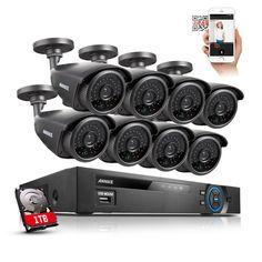 ANNKE HDMI 8CH 960H DVR 8 900TVL 42IR Outdoor CCTV Security Cameras System 1TB #ANNKE