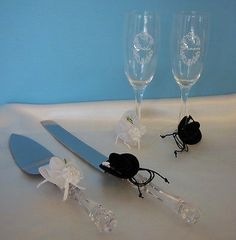 Western Cowboy Hats Wedding Cake Server & Toasting Champagne Flute Glass Set | Home & Garden, Wedding Supplies, Wedding Cake Servers & Knives | eBay!