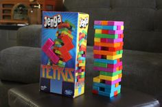 Tetris-edition Jenga | Found on RetroChronicle.com