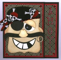 Jolly Roger the Pirate by Chatterbox-1 - Cards and Paper Crafts at Splitcoaststampers