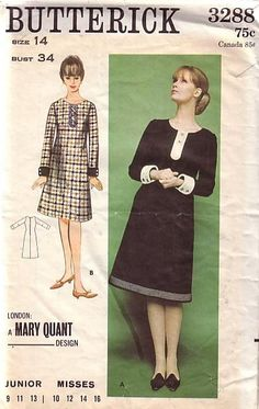 1964 mary quant dress pattern