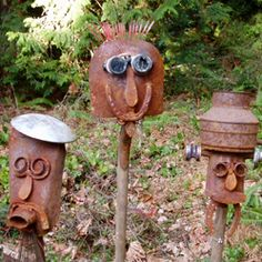BapaTom's Metalworks Portfolio Metal Art Projects, Metal Crafts, Welding Works, Shovel Head, Welded Art, Barn Tin, Metal Garden Art, Junk Art, Face Art