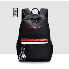 Large nylon pink backpack women school bags for teenagers girls black high  school youth back pack female daily bagpack 2019 new 5d89b7a11000e