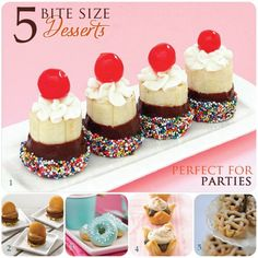 mini desserts - Click image to find more Food & Drink Pinterest pins