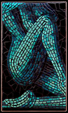 Mosaic-Elemental Nudes: Water by Brett Campbell