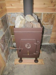 Another shot of the sauna stove....