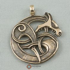 Bronze weight g. Size х in x The pendant can accept a necklace up to Animal Design, Retro, Pocket Watch, Vikings, Belly Button Rings, Celtic, Wolf, Viking Jewelry, My Style