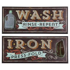 Add a playful touch to your Sunday chores with this vintage-inspired wall decor, perfect for the laundry room or cleaning closet door.